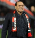 Silvio Berlusconi, president of the AC Milan