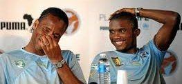 Drogba and Eto'o choosing the players for their teams
